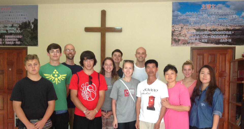 The team along with our host, Rung (on the right), who helps run Home of Grace.  We're visiting and praying with a couple in Mae Sai, in large part for their daughter, who has been unconscious for a few months after a motorcycle accident, and is currently fed through a tube. We're believing she's healed and God will be massively glorified from this testimony.